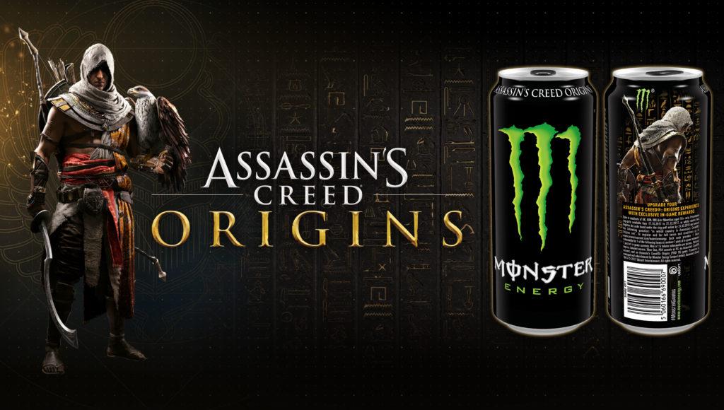 Monster y Assassin's Creed Origins