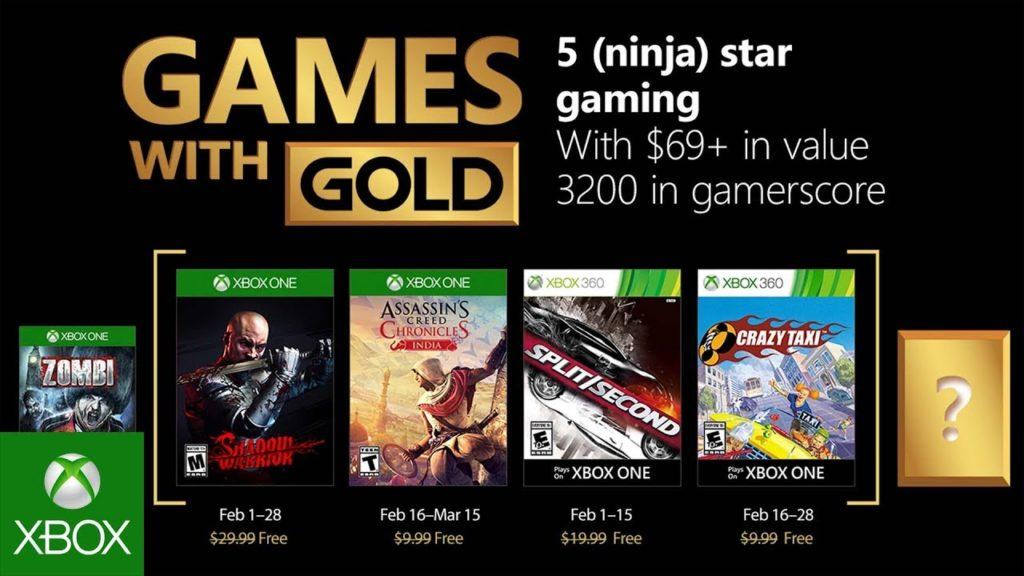 Games With Gold de Febrero 2018, que incluye ACC India.